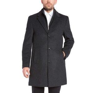 Kirkland Signature 48R Wool Cashmere Overcoat Gray